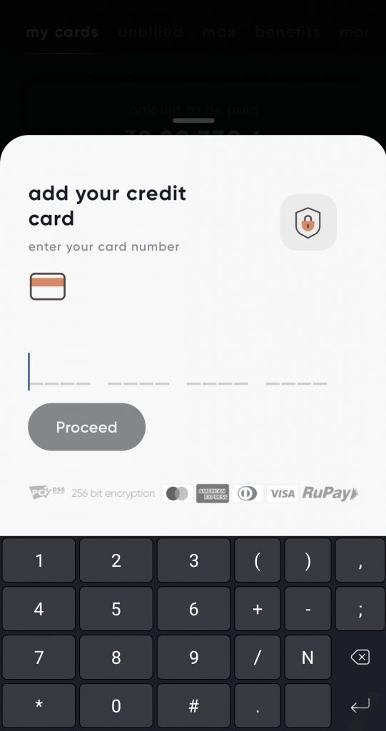 Add Credit Card in Cred App