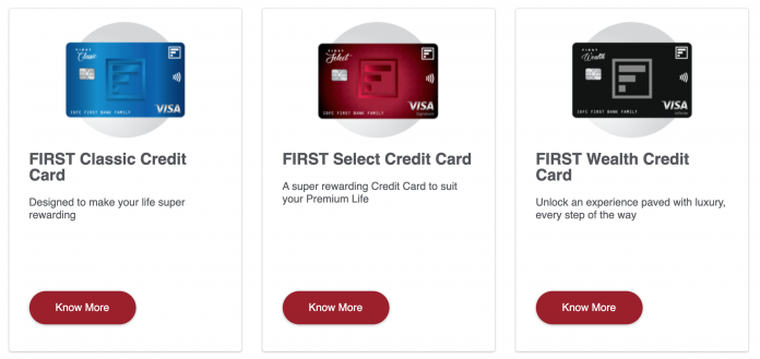 List of IDFC Credit Cards
